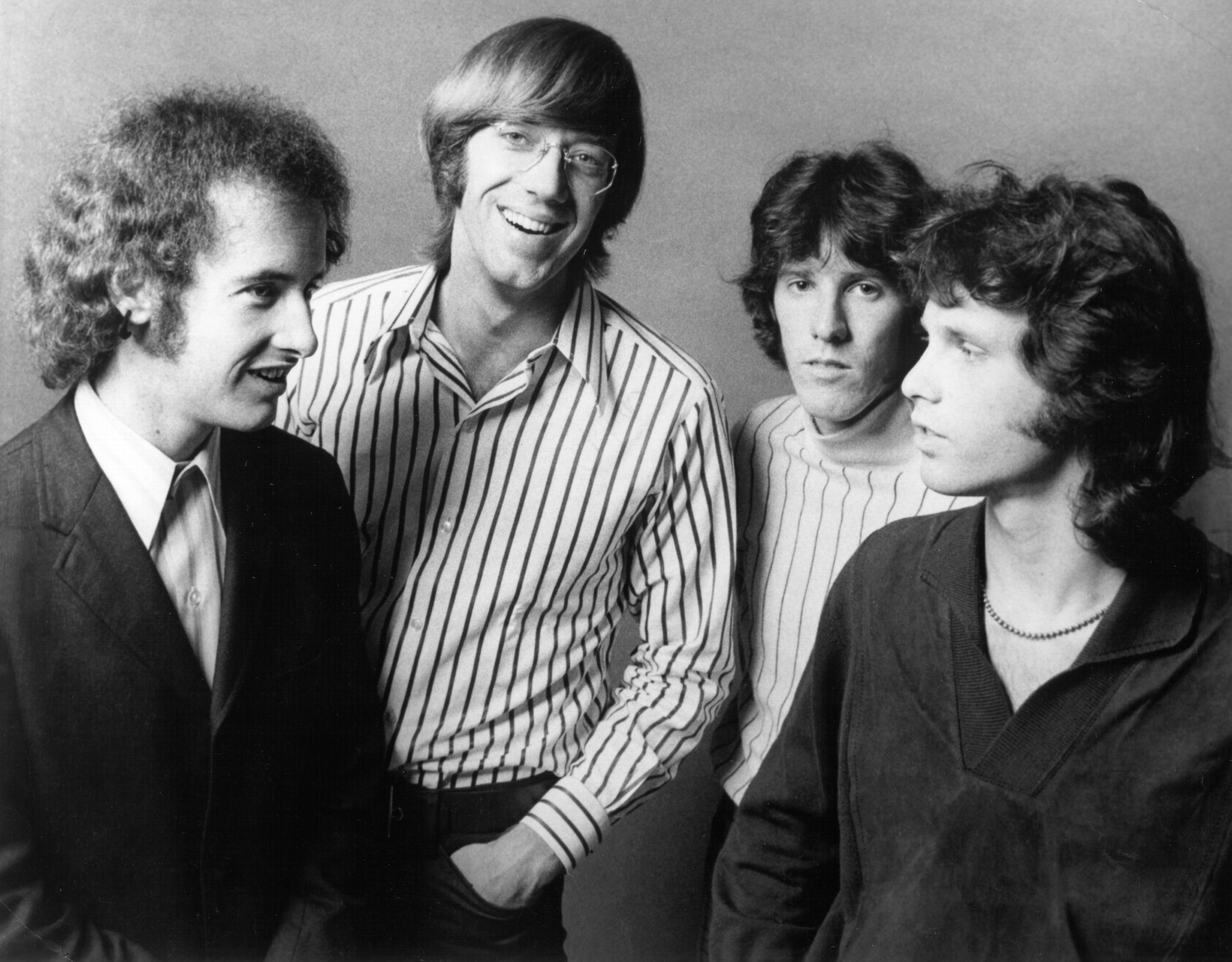 An image of the rock band The Doors taken in 1967.