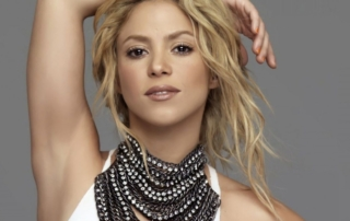 An image of pop singer Shakira.