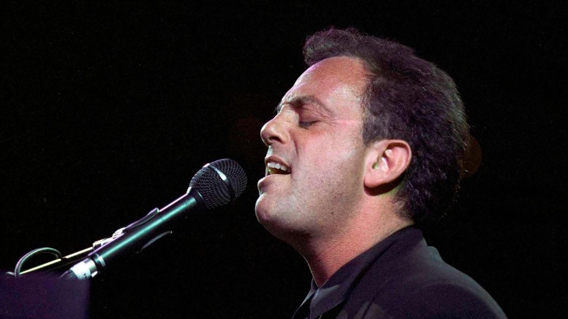 Billy Joel performing live.